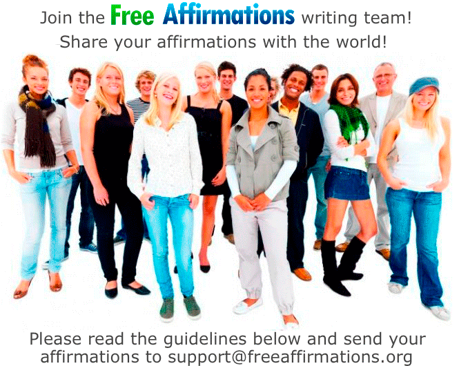 Join the free affirmations writing team