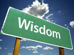 "A signpost saying ""wisdom"""