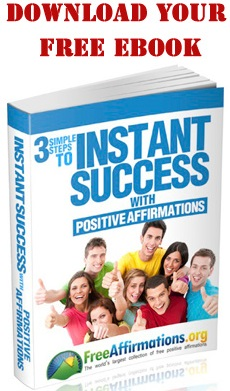 3 steps to Instant Success with Positive Affirmations eBook cover