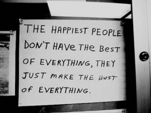 happiest people quote