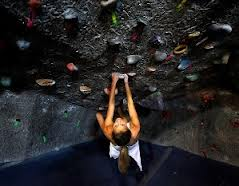 woman climing